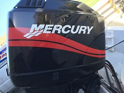 Mercury Outboard Engine Decals  Marine Vinyl set Red   40- 50 - 60- 75 or 90 HP