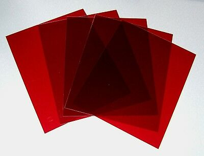 "RED RUBYLITH 5 sheets 8"" X 10"" .005"" Blocks UV Rays NOS"