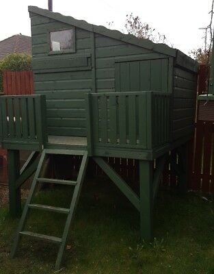 Kids Childrens Wooden Playhouse Summer House Shed Base 25000