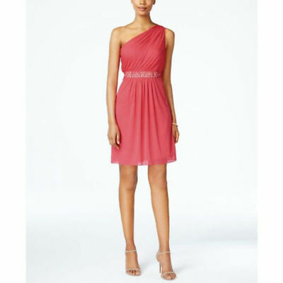 Adrianna Papell Women's One-Shoulder Embellished DresS SIZE 12 FRENCH CORAL