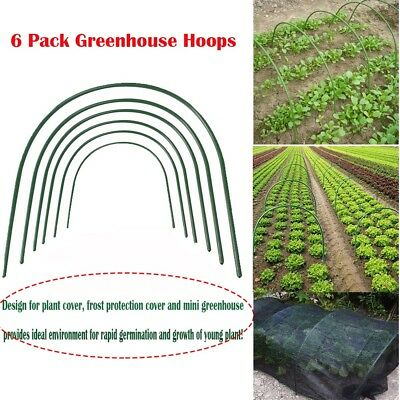 6x Plant Bend Stakes Greenhouse Steel Plastic Coated Hoops Frame Tunnel Support