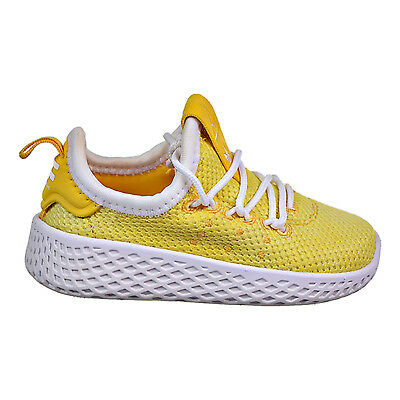 outlet store 9d8b0 863a3 ADIDAS PHARRELL WILLIAMS Tennis HU I Toddler's Shoes Yellow/White AQ0018