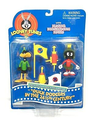Looney Tunes Daffy Duck & Marvin the Martian in Duck Dodgers WB Toy Figures 1997