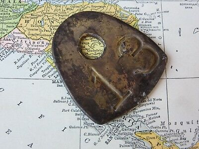 Vintage Number 13 Tag Cow Tag #13 Brass Metal Antique Cattle Tag Keychain Fob