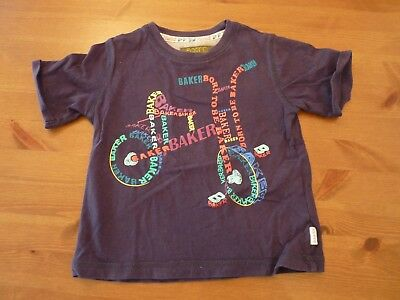 Boys Ted Baker T-Shirt Age 18-24 Months bicycle print 1.5-2 years