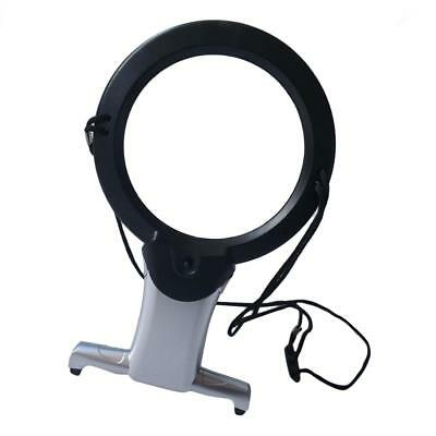 Hanging Tabletop Reading Magnifier Loupe 2.5X 6X Magnifying Glass with LED