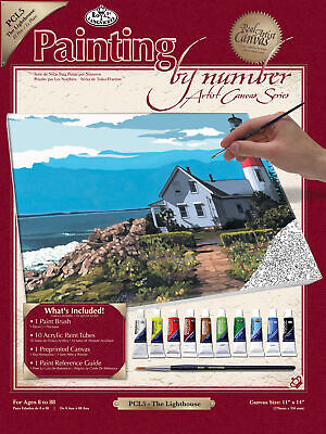 "Royal Brush Paint By Number Kit Artist Canvas Series 11""X14""-The Light (3Pk)"