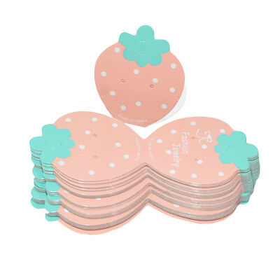 50Pcs Lovely Strawberry Paper Hair Clip Packaging Cards Jewelry Display Card