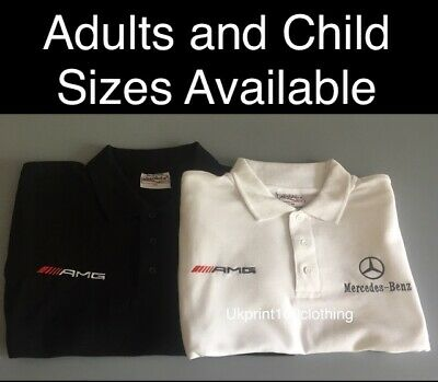 MERCEDES BENZ AMG LOGO EMBROIDERED POLO SHIRT (RTX Brand ) JACKETS, XS - 3XL