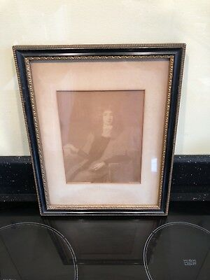 Emery Walker Print Painting Of Lord Jeffrey Antique Sir G Kneller Frame Antique