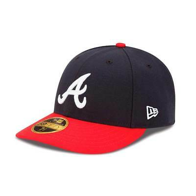 New Era Atlanta Braves Authentic Low Profile 59FIFTY Fitted MLB Cap Home
