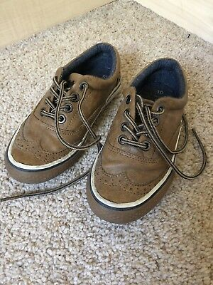Infant Boys Next Tan brown Wedding Party formal shoes Size 10 UK