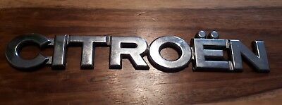 Citroen Rear Boot Badge / Decal / Emblem chrome tailgate back Picasso etc