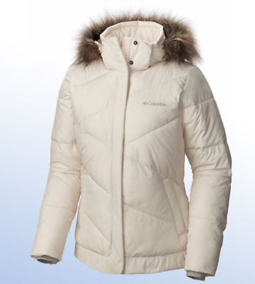 COLUMBIA Women's Snow Eclipse Removable Hooded Jacket, New Chalk, Large