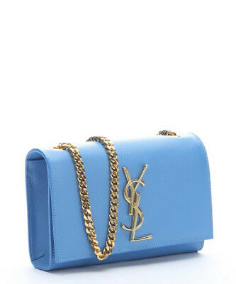 99bd9fa3473 YSL Saint Laurent Small Monogram Kate Light Blue Chain Crossbody Bag  1750