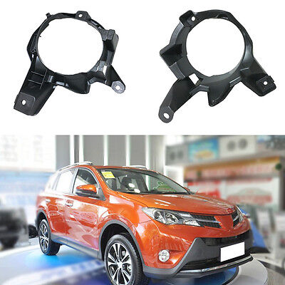 2pcs Front Bumper Fog Light Driving Lamp Brakets for Toyota RAV4 2013-2015