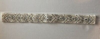 Azaleas Women's Elegant Crystal Bridal Sash Belt Ivory One Size Wedding