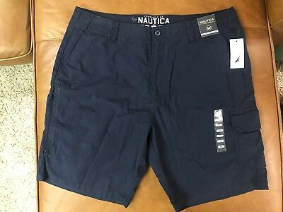 NWT Nautica 7 Pocket cargo short,mens 36 Navy Blue