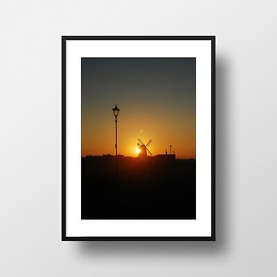 Lytham St Annes Windmill at Sunrise A4 Colour Photographic print - NEW