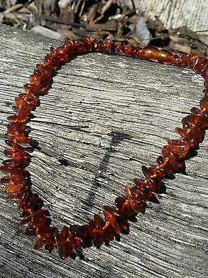 Baltic Amber Child Necklace nuggets cognac col. w Cert. of Autheticity