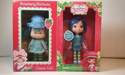 Strawberry Shortcake Blueberry Muffin Figure Doll Set new Then and Now 2 Pack