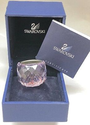 Signed Rare Swarovski Crystal Lt Rose Crystal Nirvana  Ring M 55