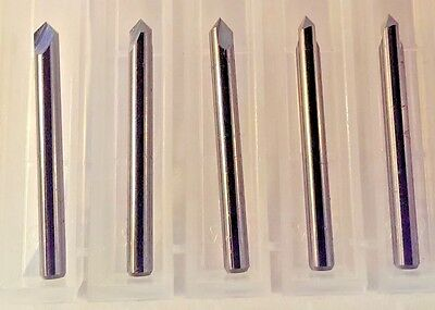 "1/8"" (.125"") 2 Flute 90 degree Carbide Chamfer Mill / Spot Drill 5-Pack USA Made"