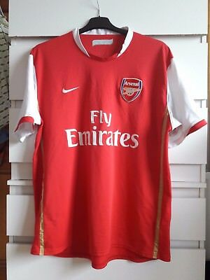 the latest 0b921 2ce0d ARSENAL NIKE Fly Emirates red FOOTBALL T-SHIRT/ SOCCER JERSEY SIZE - XL