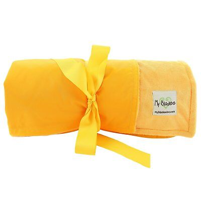 My Blankee Extra Large Picnic & Outdoor Blanket Warm and Soft Minky Yellow Color