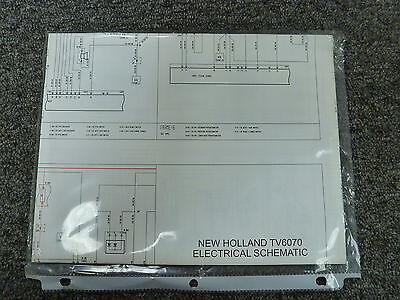 NEW HOLLAND MODEL TV6070 Utility Tractor Electrical Schematic Diagram on