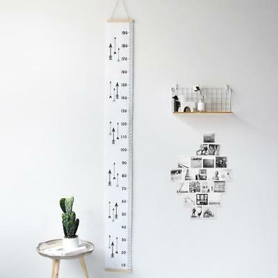 Modern Wall Height Chart Kids Height Ruler Wooden Hanging Growth Chart #3