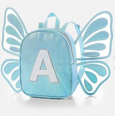 NWT Justice Butterfly Wing Initial Mini Backpack. Choose A, J, K or M! 🦋🦋🦋