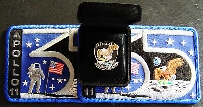 USA Launched at Cape Canaveral 1969 APOLLO II Space Badge / Pin & 2 Patches