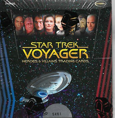 2015 Star Trek Voyager Heroes and Villains Factory Sealed Box - 3 Autographs