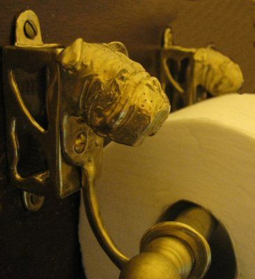 ENGLISH BULLDOG Bronze Toilet Paper Holder OR Paper Towel Holder!