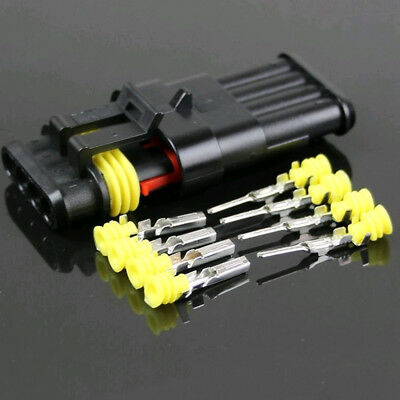 2 3 4 Pin Way Electrical Wire Connector Terminal Blade Fuse 15 Kit Waterproof