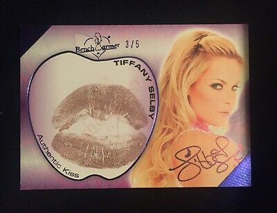 2012 BENCHWARMERS TIFFANY SELBY AUTHENTIC KISS AUTO KISS CARD #ed 3/5