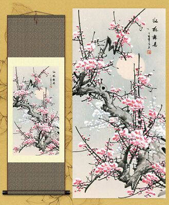 "China Silk painting Home Furnishing Decorative painting Hang a picture""红梅报春"""