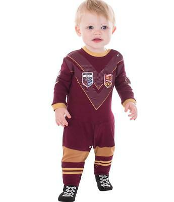 QLD Maroons 2018 State of Origin Infant Footysuit Sizes 000-3 BNWT