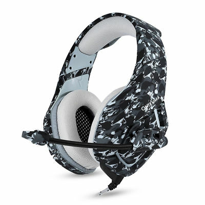 Camo Style Stereo Bass Surround Gaming Headset w/ Mic for PS4 Xbox One PC Gamer