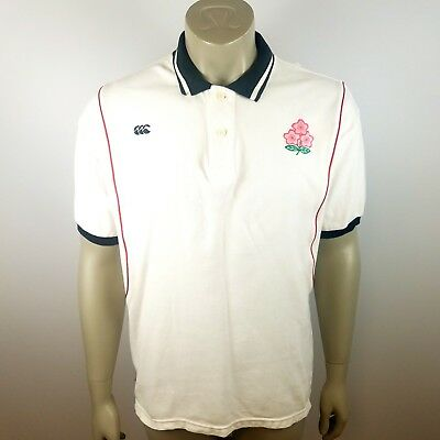 """Canterbury Of New Zealand Men's Size 3L 48"""" Japan Rugby Polo Shirt Embroidery"""
