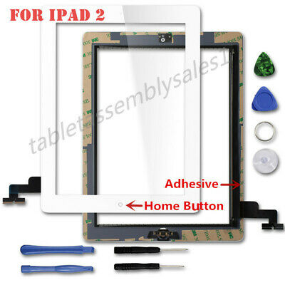 Touch Screen Digitizer Replacement w/ Home Button For Apple iPad 2 A1395 - A1397