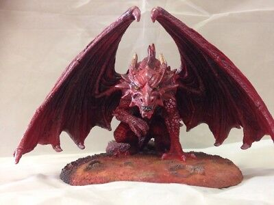Anne Stokes Red 'Dragons Lair' Sculpture Figurine Large RARE 27cm