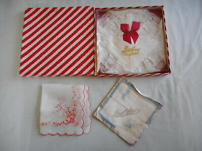 Vintage Handkerchiefs in Gift Box, Gift wrapped and other Vintage Handkerchief