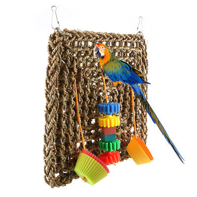 Foraging Wall Seagrass bird toy with foraging pieces Birds Toys Parrot Cage