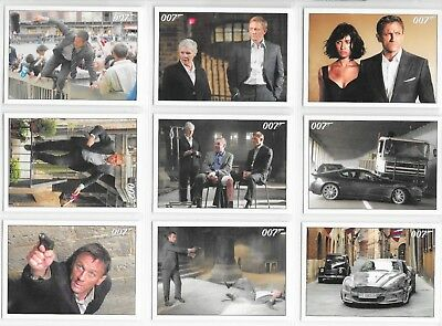 2015 OO7 James Bond Archives 90 card QUANTUM OF SOLACE Base Set + Wrapper