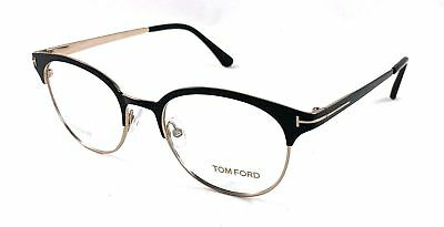 Tom Ford TF 5382 005 Black Gold Titanium RX Eyeglasses NIB FT5382 50MM
