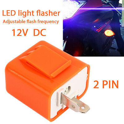 Adjustable Motorcycle Flasher Relay Durable Fix Flash 2Pin
