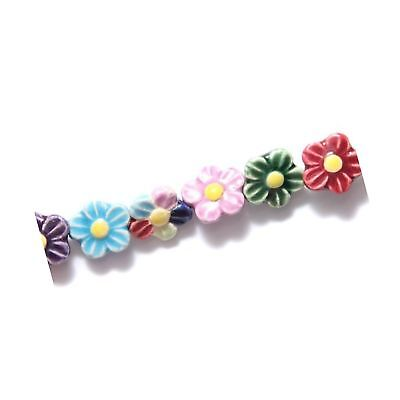 Shipwreck Peruvian Hand Crafted Ceramic Daisy Flower Beads, 12mm, Assorted, 1...