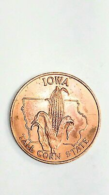IOWA 1969 Shell Oil  State s of the Union Medallion  Coin Vintage Old